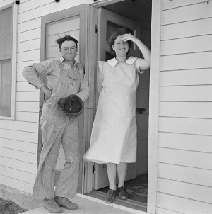 Resettled Farmer and Wife  in Ropesville, Texas in 1936