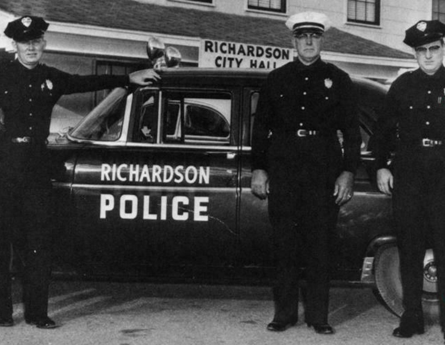 Richardson Texas Police with Cruiser in 1950