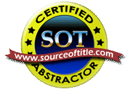 Source of Title Certified Title Abstractor