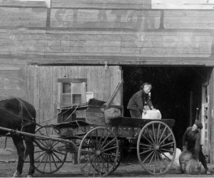 Boys Loading Wagon in 1900