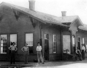 Railroad Station Slaton Texas 1914