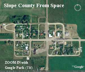 Slope County from Space