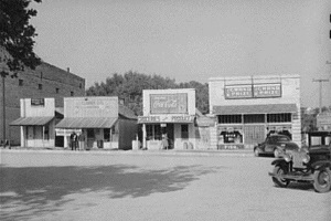 Store buildings on square. Glen Rose, Tx in 1939