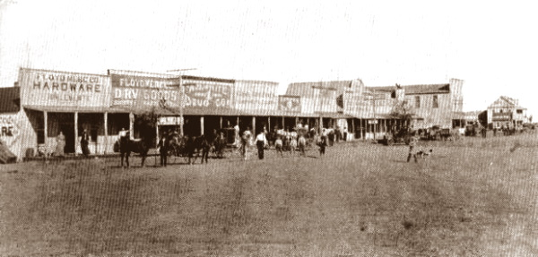Street Scene Floydada Texas early 1900s