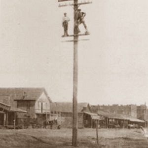Telegraph Pole Workers Midland Texas 1902