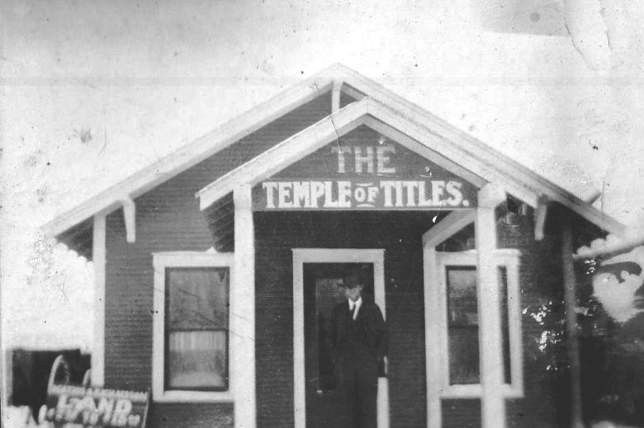 Temple of Titles in Brownfield Texas in 1918