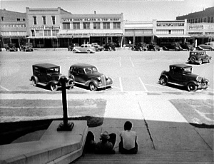 Town square Memphis, Texas in 1937