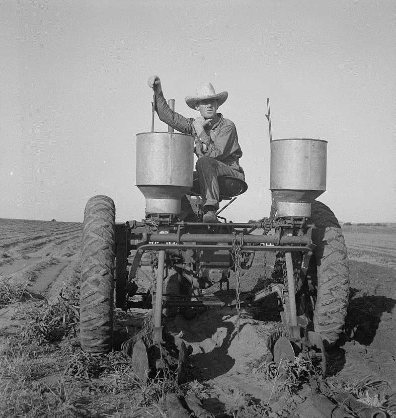 Tractor operator in Childress County, Texas in 1938