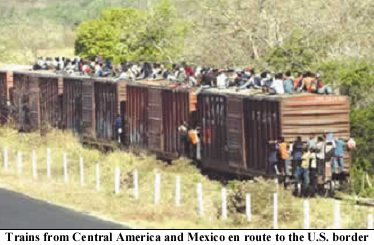 Train filled with Illegal Aliens Headed for US