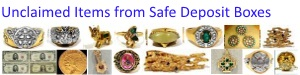 Unclaimed Items from Safe Deposit Boxes