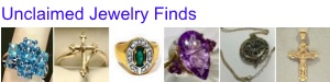 Uncliamed Jewelry