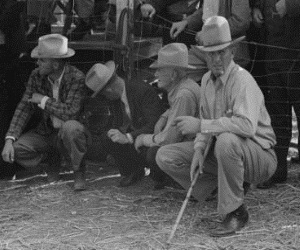 West Texans at horse auction (2) Eldorado, Tx 1939