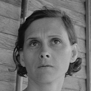 Worried Woman in Hall County Tx 1939